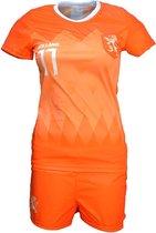 Nederlands Elftal Vrouwen Replica Tenue Voetbal T-Shirt + Broek Set Oranje