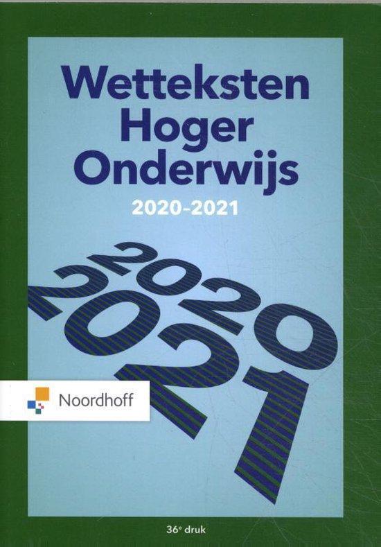 Boek cover Wetteksten Hoger Onderwijs 2020-2021 van Redactieraad (Paperback)