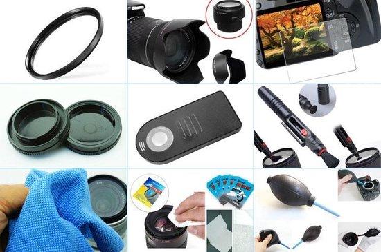 10 in 1 accessories kit voor Nikon D3300 + AF-S 18-105mm ED VR