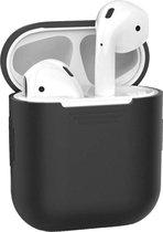 Hoes voor Apple AirPods Hoesje Siliconen Case Cover - Zwart