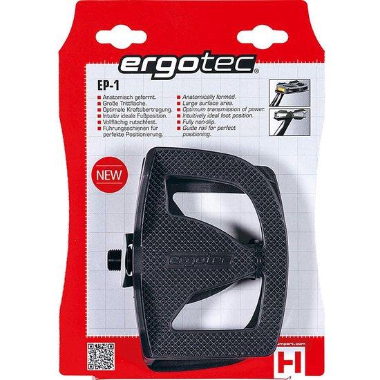 Ergotec EP-1 Pedalen met reflectoren zwart
