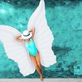 relaxdays Opblaasbare engelenvleugels - vleugels - luchtbed - decoratie - strand - zwembad wit