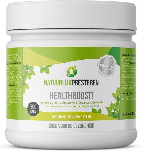 Healthboost Green Juice - Tarwegras, Probiotica, Acerola en Spirulina