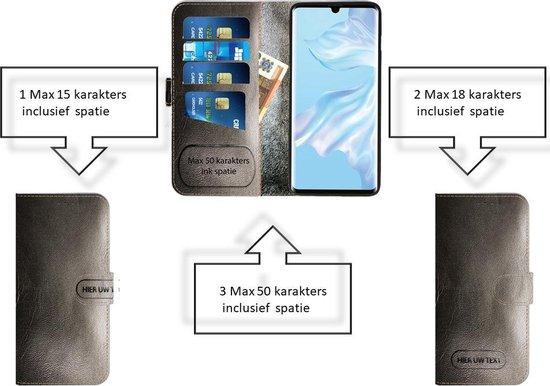 Bol-Made-NL Handmade Echt Leer Book Case Voor Samsung Galaxy Note 10 Pro Zwart leder. Het leder heeft een gouden krokoprint de kleur is meer zwart dan op de foto.