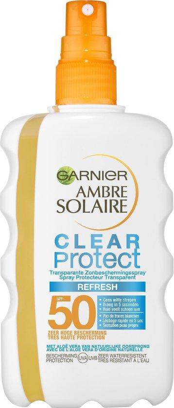 Garnier Ambre Solaire Clear Protect Refresh - Transparente Zonbeschermingsspray SPF50 - 200ml - Zeer Hoge Beschermingfactor