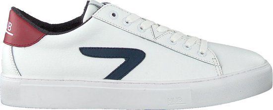 HUB Heren Lage sneakers Hook-z - Wit - Maat 44