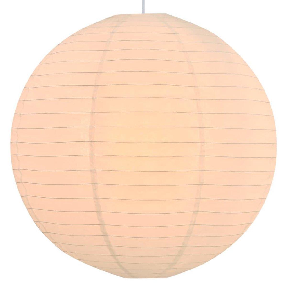 Hanglamp - Kunststof - Wit - E27 - 56 cm Ø