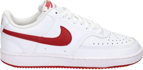 Nike Court vision low dames sneaker - Wit rood - Maat 36,5