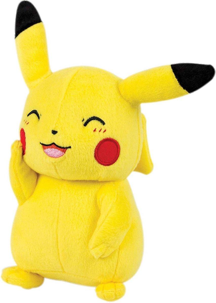 Pokemon - Pikachu - Knipoog - Pluche Knuffel (Tomy) - 30 cm