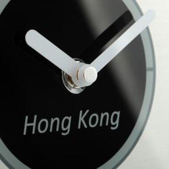NeXtime Big World - Klok - Rond - Glas - Ø52 cm - Gematteerd Wit