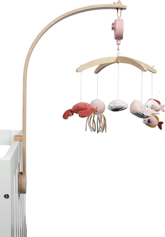 Product: Little Dutch Houten Muziekmobiel - Ocean pink, van het merk Little Dutch