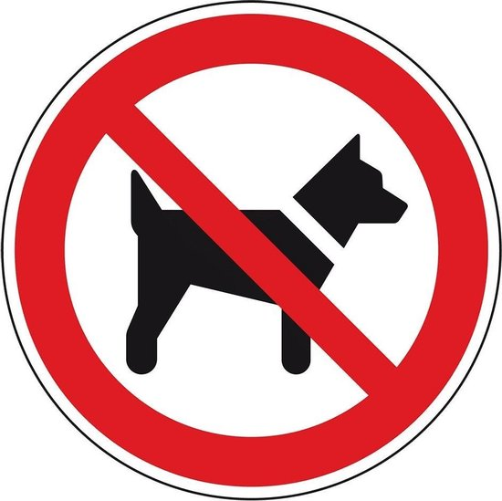 bol.com | Verboden voor honden bord, aluminium, 200 mm