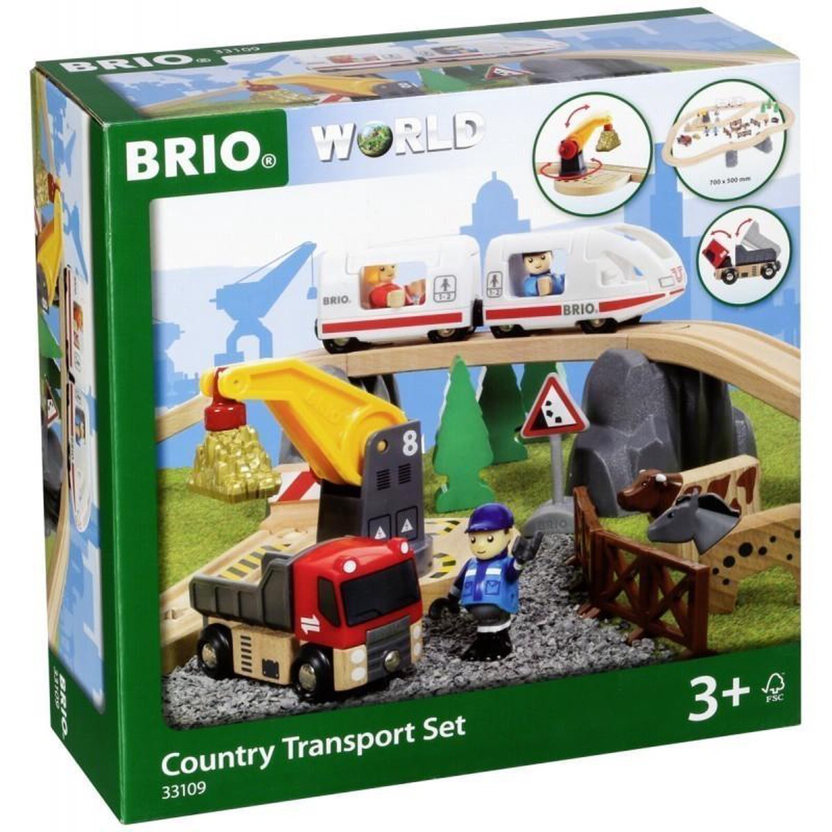 BRIO 33109 Country transport set