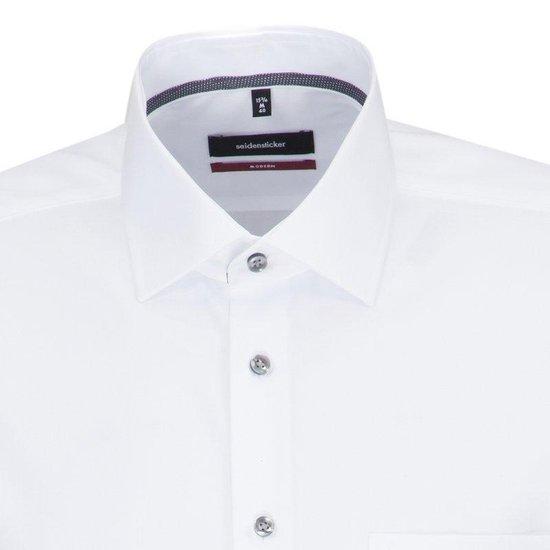 Seidensticker Overhemd Modern Fit Wit, Maat 40