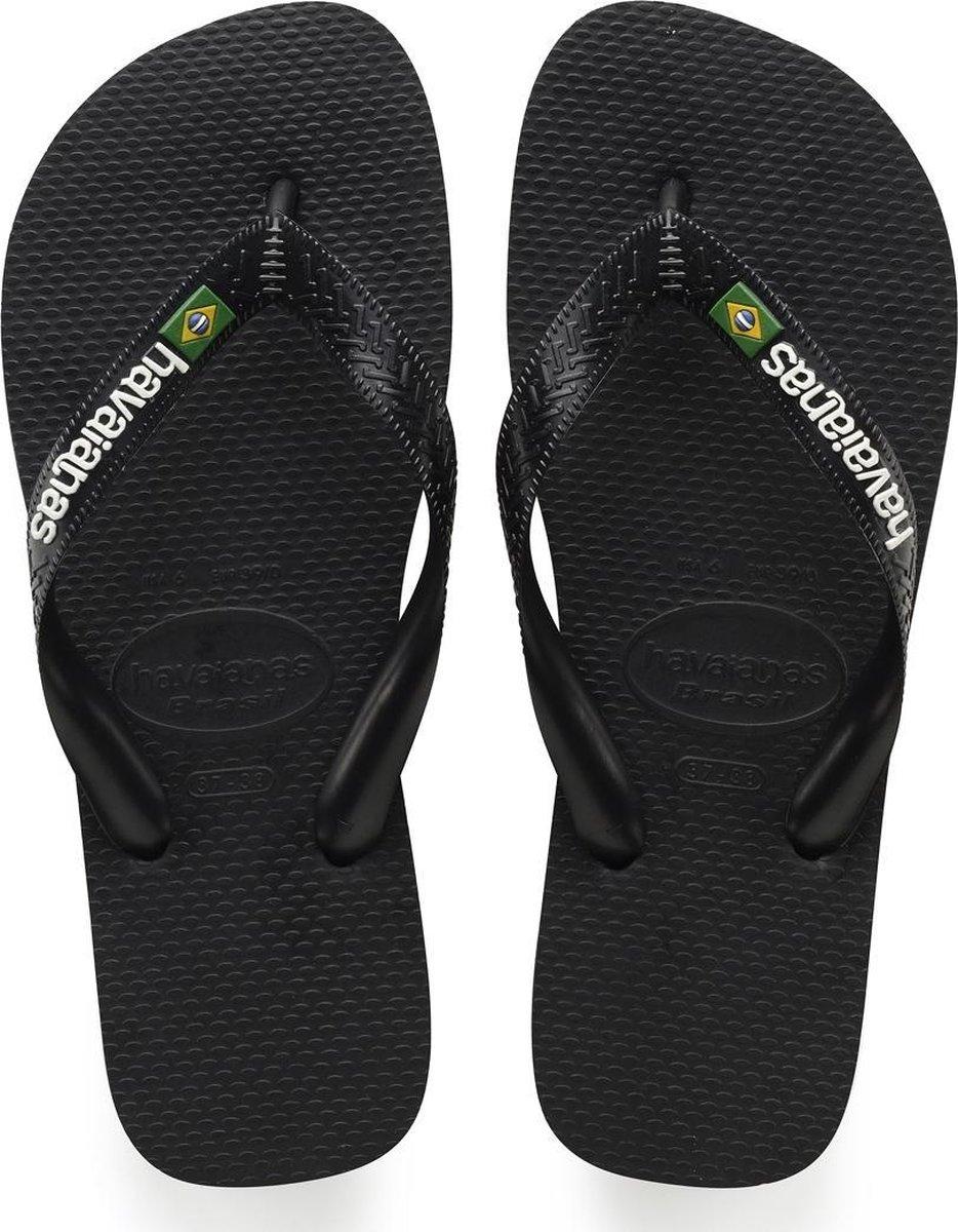Havaianas Brasil Logo Unisex Slippers - Black - Maat 31/32 - Havaianas