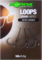 Korda Loop Rigs Krank - 18lb - Maat 6 - 3 Stuks