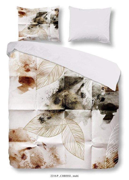 Dekbedovertrek Chrissi –  Lits-jumeaux (240 x 200/220 cm) – Katoen – Grijs    Meerkleurig   Multi   Multicolor – Good Morning