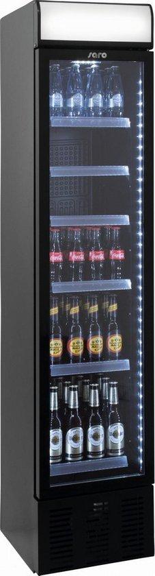 Koelkast: SARO extra smalle geventileerde koelkast | Staal | 190.5(h) x 40.3(b) x 45.5(d) cm, van het merk Saro
