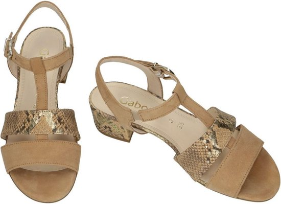 Gabor Dames camel sandalen maat 39