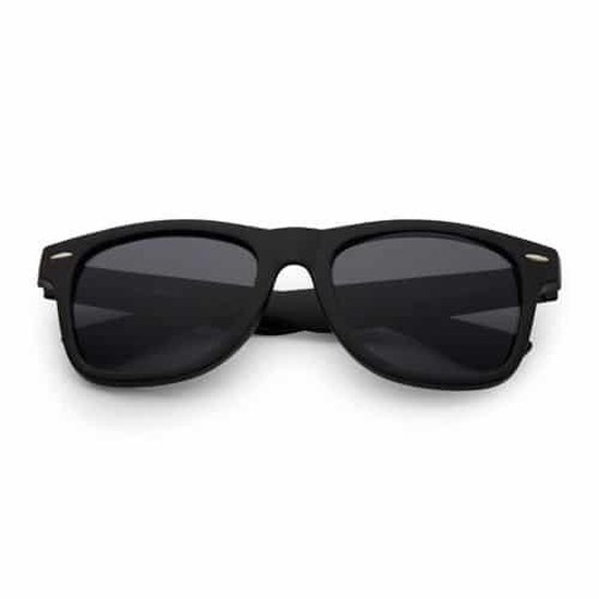 Wayfarer style zonnebril mat zwart | UV-400 lenzen