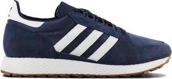 adidas Originals Forest Grove B41529 - Heren Retro Sneakers Sportschoenen  Schoenen Blauw-Wit - Maat EU 46 2/3 UK 11.5