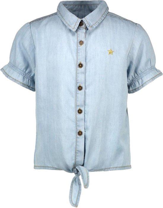 Like Flo Meisjes blouses Like Flo Flo girls light denim knotted ss blo denim 110