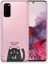 Telefoonhoesje met Naam Samsung Galaxy S20 Cat Good Day