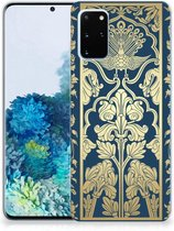 Back Cover Samsung S20 Plus TPU Siliconen Hoesje Golden Flowers