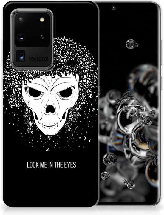 Silicone Back Case Samsung Galaxy S20 Ultra Skull Hair