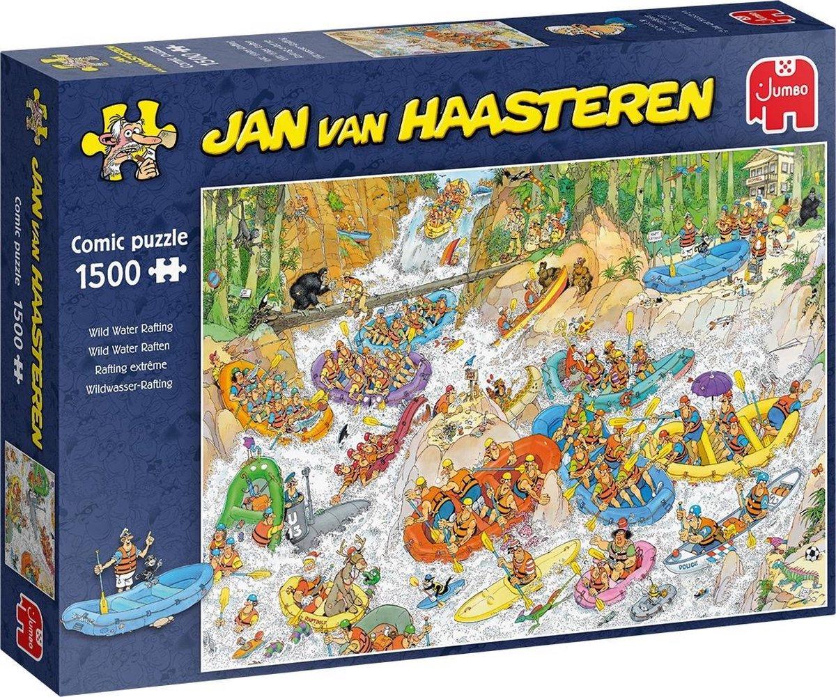 Jan van Haasteren Wild Water Raften puzzel - 1500 stukjes