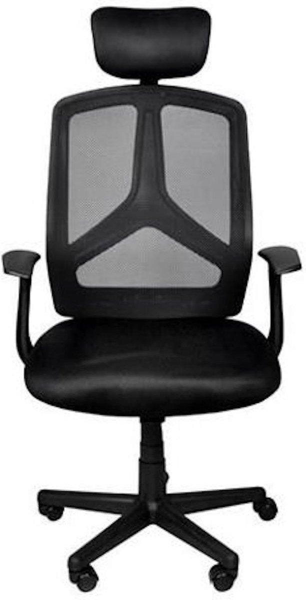 Ergonomische bureaustoel met hoofdsteun - bureaustoel - Malatec Bureaustoel - Ergonomische Bureaustoel - Draai Stoel - Zwart