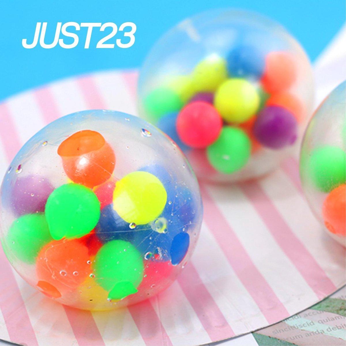 JUST23 DNA stress Ball - Fidget toys - Stressbal orbeez  - Regenboog