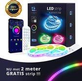 Lideka®️ Smart LED strip 10+2 Meter (2x6) met Afstandsbediening - Led Light Strip - RGB Licht strip - Led Verlichting - Incl. App