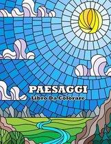 libro da colorare paesaggi: Libro da colorare per adulti