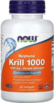 Neptune Krill Olie 1000mg - 60 Softgels - Now Foods - Visolie - Voedingssupplement