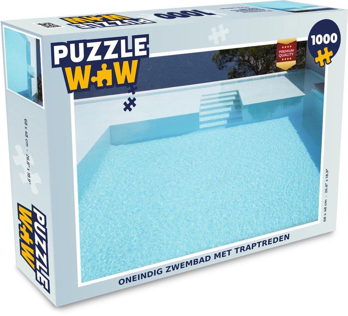 Puzzel 1000 stukjes volwassenen Zwembad zonder einde 1000 stukjes - Oneindig zwembad met traptreden puzzel 1000 stukjes - PuzzleWow heeft +100000 puzzels