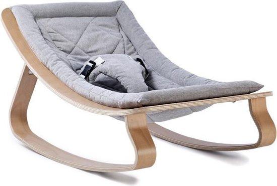 Product: Wipstoeltje LEVO Beukenhout Sweet Grey Charlie Crane, van het merk Charlie Crane