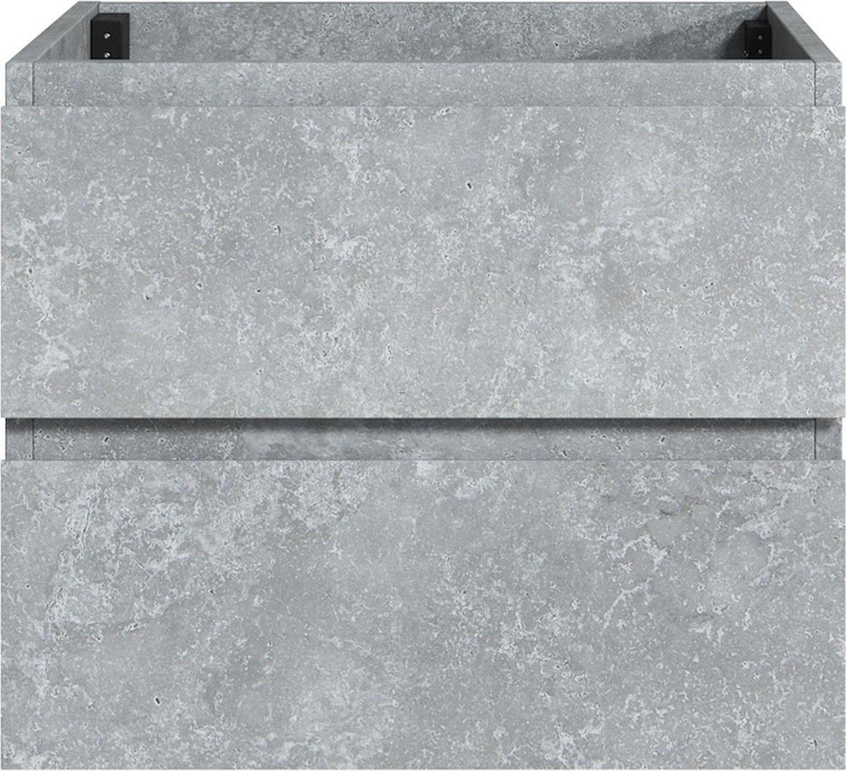 Badplaats - Wastafelkast Angela 60 cm - F.ash - zonder wastafel