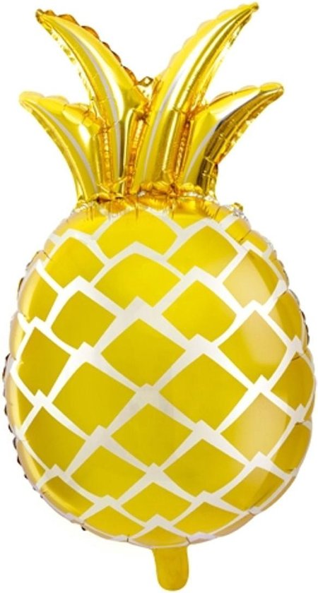 PARTYDECO - Aluminium gele ananas ballon - Decoratie > Ballonnen