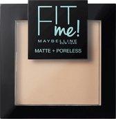 Maybelline Fit Me Matte & Poreless Make-up Poeder - 110 Porcela