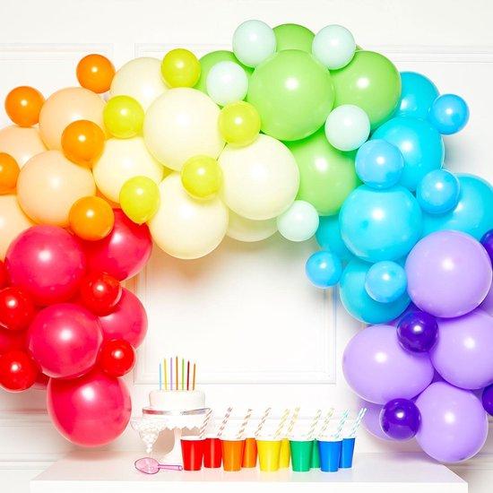 Amscan Ballonslinger Latex 1 Meter Regenboogkleurig 78-delig