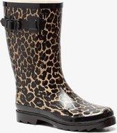 Mountain Peak dames regenlaarzen met luipaardprint - Bruin - Maat 39