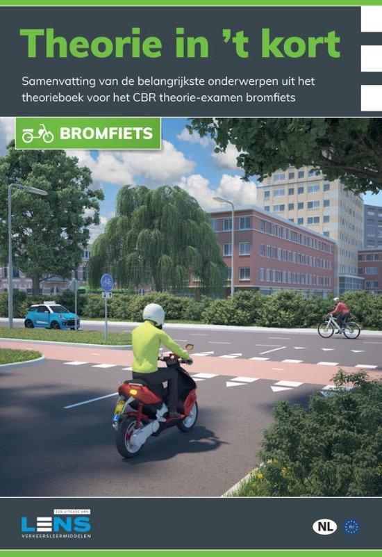 Boek cover Lens verkeersleermiddelen  -   Theorie in t kort bromfiets van P. Somers (Paperback)