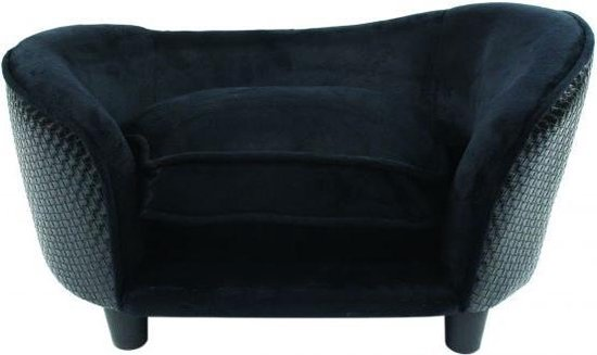 Enchanted hondenmand sofa ultra pluche snuggle wicker zwart 68 x 41 x 38 cm