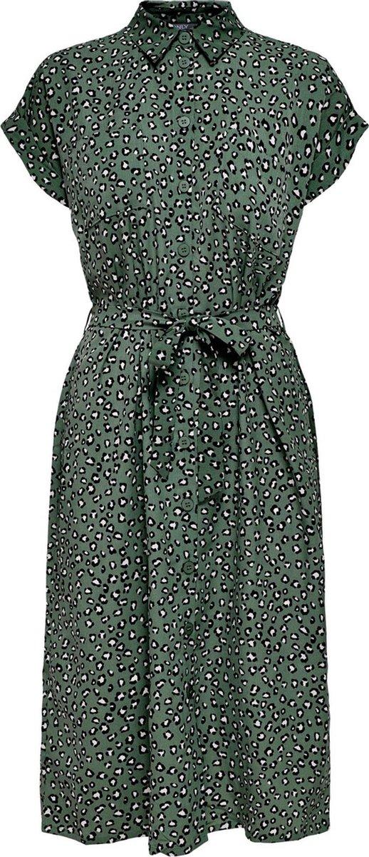 ONLY ONLHANNOVER S/S SHIRT DRESS  WVN Dames Jurk - Maat 34