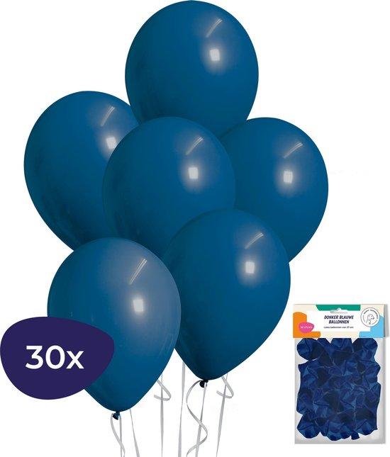 Blauwe Ballonnen – Helium Ballonnen – Verjaardag Versiering – Donkerblauwe Ballonnen – 30 stuks