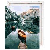 Schilderen Op Nummer Volwassenen -  Meer en Bergen - Met Frame - 40x50cm