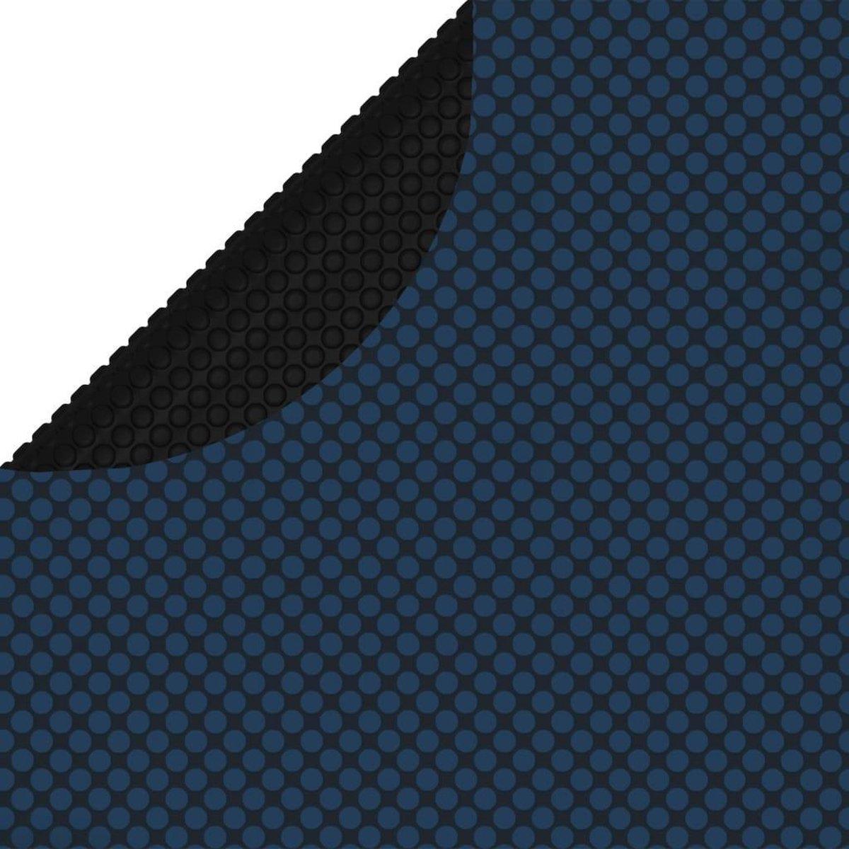 vidaXL Zwembadfolie solar drijvend 527 cm PE zwart en blauw