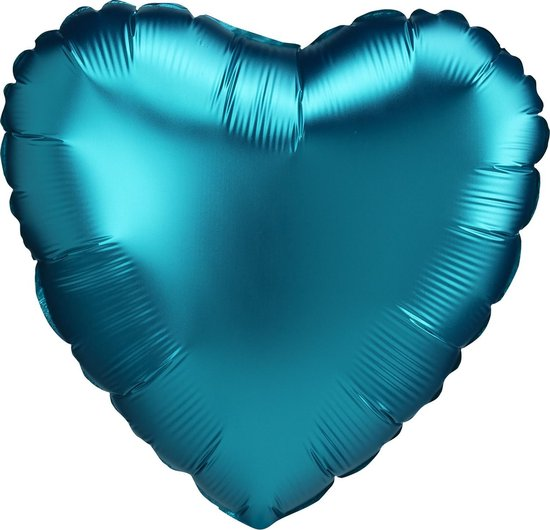 Amscan Folieballon Luxe Aqua Hart 43 Cm Blauw