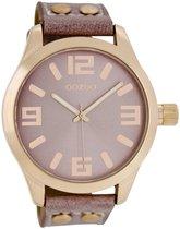 OOZOO Timepieces C1152 - Horloge - 46 mm - Leer - Paars